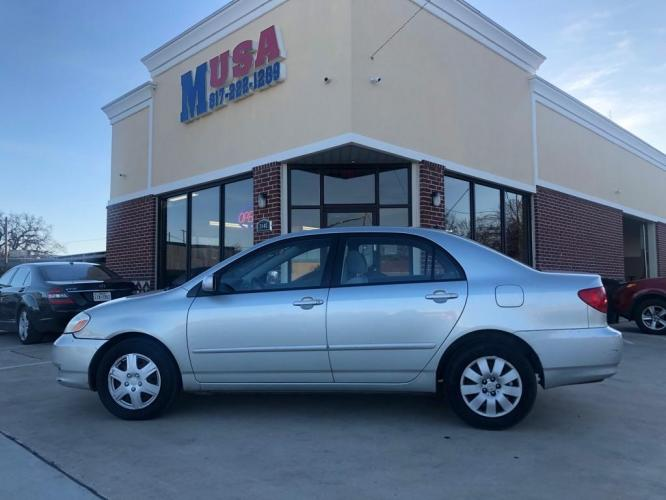 2003 SILVER TOYOTA COROLLA CE (JTDBR32E430) with an 1.8L engine, Automatic transmission, located at 3145 N Beach st, Fort worth, TX, 76111, (817) 222-1289, 32.801109, -97.290657 - Photo #0