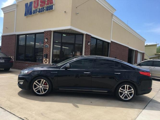 2013 Black KIA OPTIMA SX (5XXGR4A66DG) with an 2.0L engine, Automatic transmission, located at 3145 N Beach st, Fort worth, TX, 76111, (817) 222-1289, 32.801109, -97.290657 - Photo #0