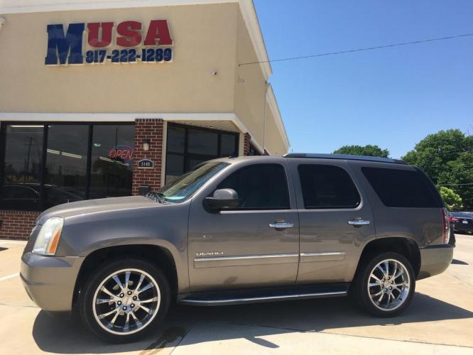 2012 Tan GMC YUKON DENALI (1GKS2EEF5CR) with an 6.2L engine, Automatic transmission, located at 3145 N Beach st, Fort worth, TX, 76111, (817) 222-1289, 32.801109, -97.290657 - Photo #0