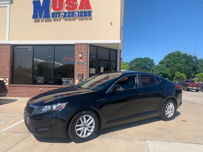 2011 Black KIA OPTIMA LX (KNAGM4A71B5) with an 2.4L engine, Automatic transmission, located at 3145 N Beach st, Fort worth, TX, 76111, (817) 222-1289, 32.801109, -97.290657 - Photo #0