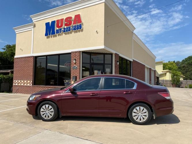 2012 Maroon HONDA ACCORD LX (1HGCP2F32CA) with an 2.4L engine, Automatic transmission, located at 3145 N Beach st, Fort worth, TX, 76111, (817) 222-1289, 32.801109, -97.290657 - Photo #0