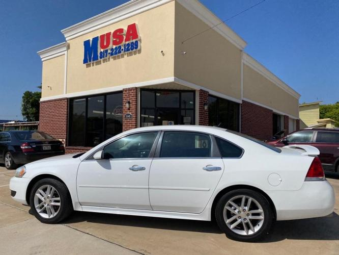 2013 White CHEVROLET IMPALA LTZ (2G1WC5E34D1) with an 3.6L engine, Automatic transmission, located at 3145 N Beach st, Fort worth, TX, 76111, (817) 222-1289, 32.801109, -97.290657 - Photo #0