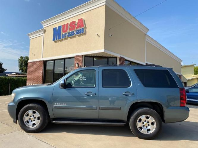 2009 Blue CHEVROLET TAHOE 1500 LT (1GNFC23049R) with an 5.3L engine, Automatic transmission, located at 3145 N Beach st, Fort worth, TX, 76111, (817) 222-1289, 32.801109, -97.290657 - Photo #0